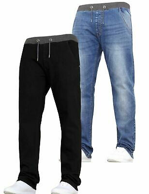 Boys Kids STRETCH Jeans Multipack 2 Pack Pull On Elasticated Waist Pant Trousers