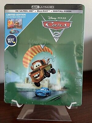 Cars 2 Steelbook (4K UHD/Blu-ray/Digital, Disney) Factory Sealed