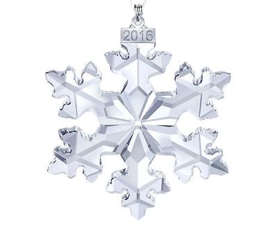 New in Box $79 SWAROVSKI LARGE ANNUAL CHRISTMAS ORNAMENT 2016 SNOWFLAKE #5180210