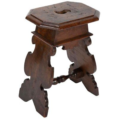 17th century Italian Baroque Walnut Stool