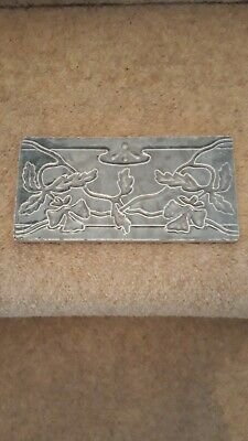 "Antique Victorian Art Nouveau Fireplace Tile Approx 6"" X 3"""