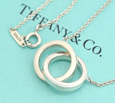 TIFFANY&Co 1837 Interlocking Circles Necklace Silver 925 w/BOX #7601