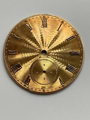 A Nice Antique Victorian Gilded Solid Silver Dial For Pocket Watch Movement