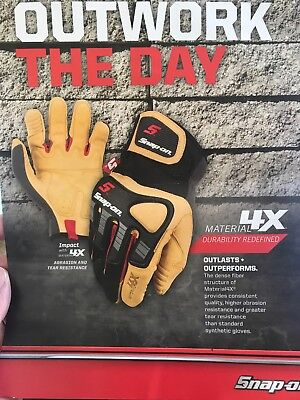 Snap On Impact 4x Gloves Abrasion And Tear Resistance In Large NEW