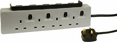 2M 4 Socket Workshop Extension Lead Individually Switched ,With 2 USB Sockets