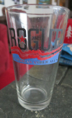 Rogue American Amber ale Beer Pint Glass Bar