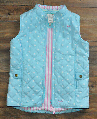 Joules Girls Quilted Gilet Bodywarmer Sleeveless Jacket 9-10 Years Padded Blue
