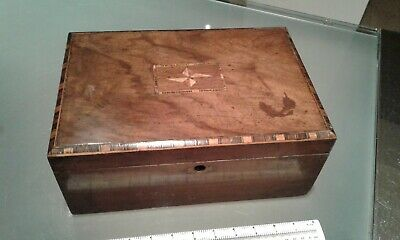 Antique Victorian Tunbridge Ware Wooden Inlaid Jewellery Sewing Vanity Box