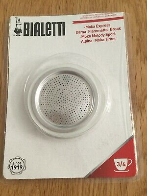 La Cafetiere Bialetti Washer and Filter Set To Suit - Moka Dama 3 Cup