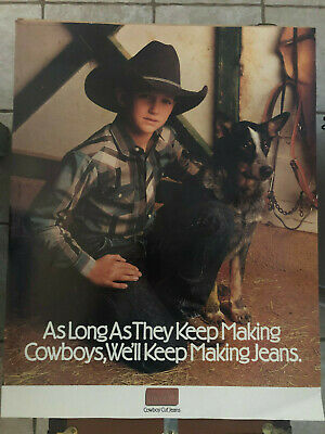 Promo Poster Advertisement for Wrangler Cowboy Cut Jeans