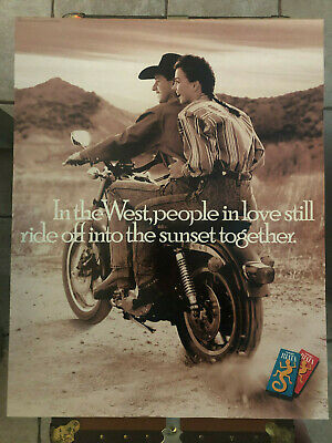 Promo Poster Advertisement for Wrangler Riata Jeans