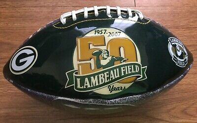 Green Bay Packers Commemorative Lambeay Field 50 Years Football