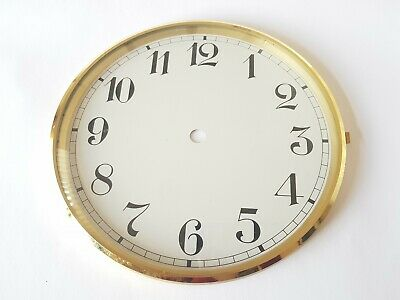 Brass Clock Bezel and Glass 187mm Arabic Dial German Made Quality