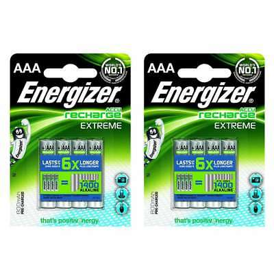 16 x Energizer ACCU Extreme AAA HR03 MN2400 NiMH Rechargeable Batteries 800mAh.