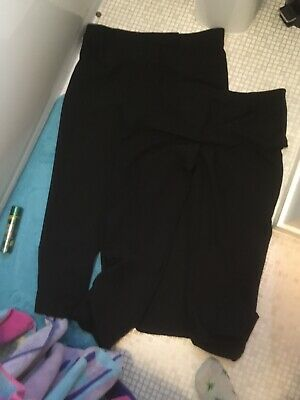 Two Pairs Of George Size 18 Ladies Black Smart Office Work Long Trousers