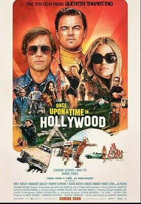 Once Upon a Time in Hollywood 27x40 Official Movie Poster Near Mint