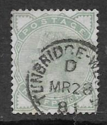 QUEEN VICTORIA ERA - USED 1/2d GREEN DEFINITIVE POSTAGE STAMP, ISSUE 1880