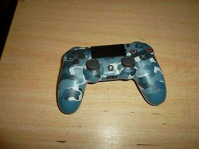 Sony Playstation 4 Dualshock Blue Camouflage Wireless Controller Works A+