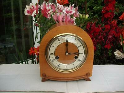 Smiths Petite 8 Day Striking Mantel Clock. Truly Superb. 1955 Fully Overhauled.