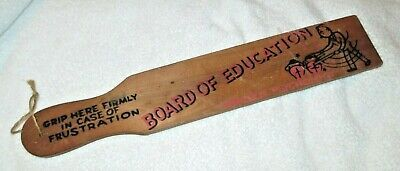 Vintage Board of Education Wooden Disciplinary Spank Paddle Made Japan