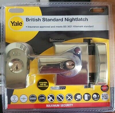 Yale P-BS2-BLX-PB-40 Maximum Security Nightlatch 40mm Brass Case