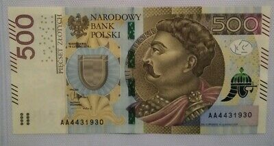 POLAND-500 Zlotych-2016 - P-NEW  - Mint *UNC* AA4431930