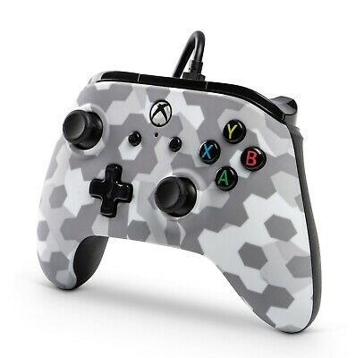 Power A Xbox One Wired Controller Arctic Frost Camo (1508486-01)  (for parts)