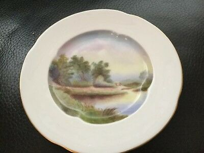 Antique Royal Worcester Hand Painted Small Cabinet Display Plate Trinket 1906