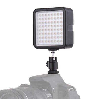 Andoer WY-64 Mini LED Light Panel 8W Dimmable 5600K Camcorder Video Lamp I3S9