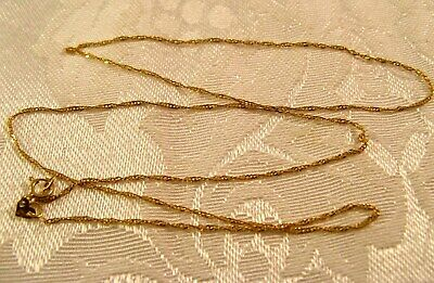 """18"""" Chain SINGAPORE Twisted Link ITALY 14K Gold .7mm wide Necklace"""