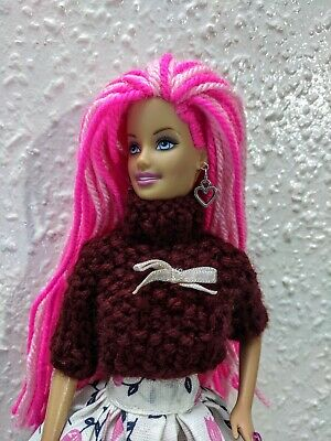 Barbie doll with brand new hair, outfit and accessories - ooak