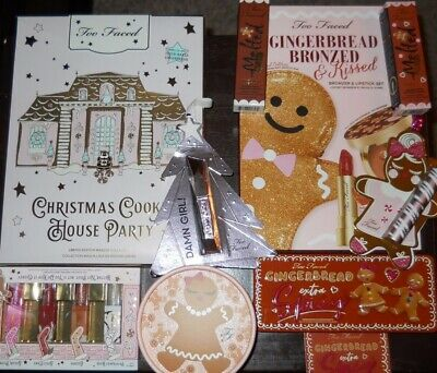 TOO FACED Christmas Cookie House Party Eyeshadow Palette & Gingerbread Bronzed!