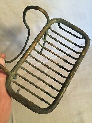 Antique brass cast iron claw foot bathtub SOAP HOLDER over side ORIGINAL RESTORE
