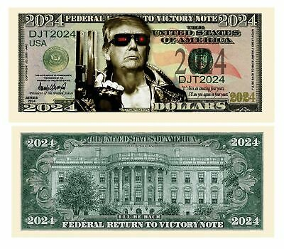 100 Support Donald Trump 2020 For President Re-Election Campaign Dollar Bill