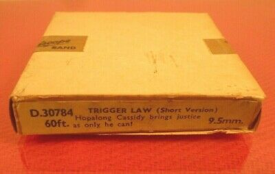 PATHESCOPE 9.5mm CINE FILM: HOPALONG CASSIDY in TRIGGER LAW: NEW UNOPENED BOX