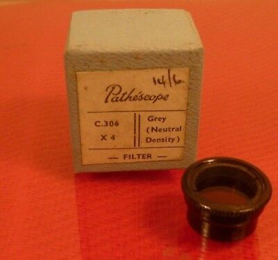 PATHE /  PATHESCOPE 9.5mm GRAY (NEUTRAL DENSITY) X 4  FILTER: NEW/OLD STOCK.