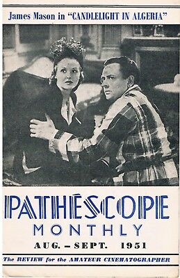 PATHESCOPE MONTHLY: 9.5mm Cine Magazine 1951: CANDLELIGHT IN ALGERIA RELEASED