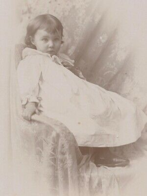 Cute Little Girl by Call of Dexter, Maine - Antique Photo Cabinet Card