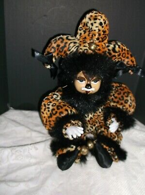 Haunted Estate Collection Unusual Jester Cat Doll