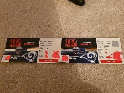 x2 NFL London Wembley tickets - Bengals @ Rams (seated together)