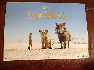 THE LION KING Odeon Poster - from the Official 2019 The Lion King Disney Film