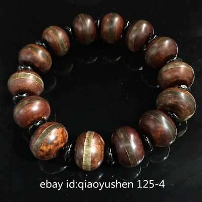 Collect Tibetan Old Dzi Bead Agate Grinding Abacus Beads Pretty Fashion Bracelet