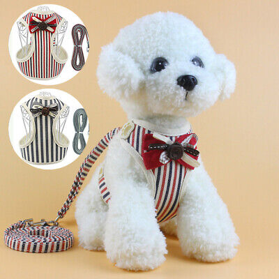 Breathable Mesh Small Pet Dog Harness and Leash Set Puppy Vest For Dog Cat Clip