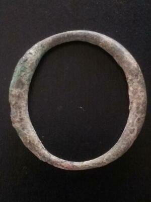 Large 29mm Genuine Ancient CELTIC Bronze Ring Money ~600 BC Sandy Patina #23