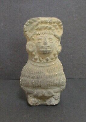 Pre-Columbian Pottery Vase Vessel Figure