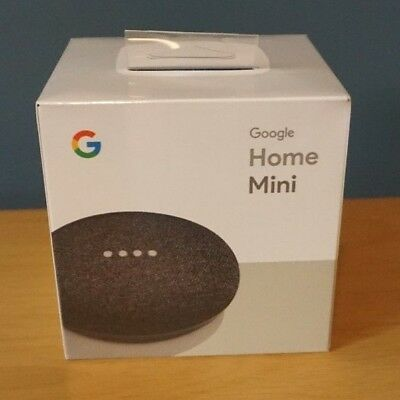Google Home Mini Smart Assistant - Charcoal new factory sealed box FREE S&H