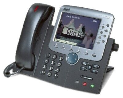 Cisco CP-7970G IP Phone Color Touch Screen SIP SCCP Latest Firmware 8Lines Testd
