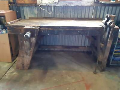 Vintage Workbench with character and Vice