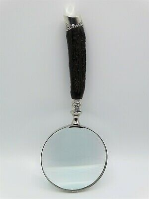 Antique English Sterling Silver & Horn Magnifying Glass, Sheffield 1905