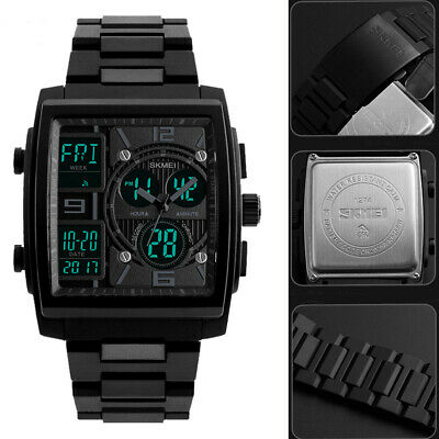 FASHION Military Rubber Tactical LED Digital Sports Waterproof Watch US STOCK